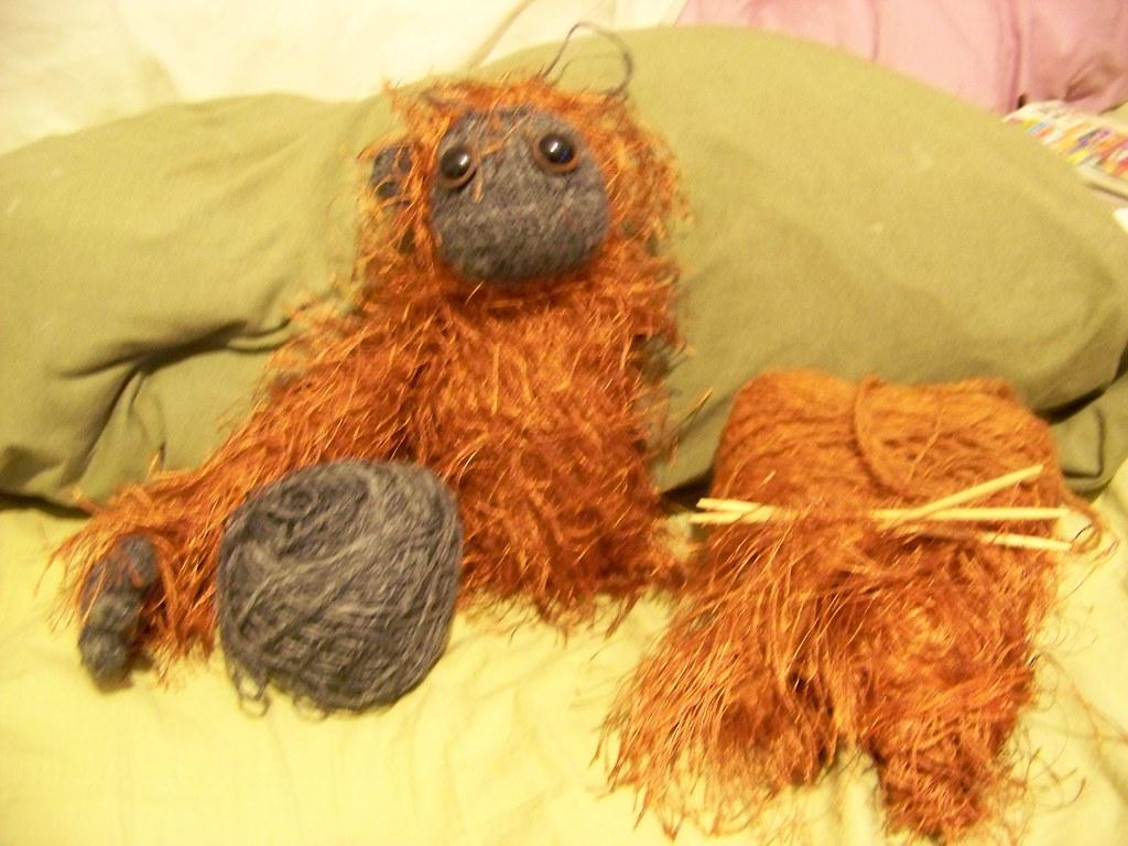 Orangutan with yarns