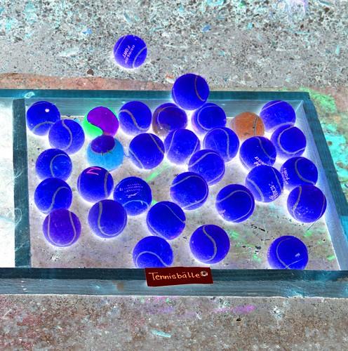 tennisbälle blau detail