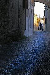 Old Rhodes (Greg Adams Photography) Tags: travel light boy sunset shadow dark island greek dusk greece rodos rhodes mywinners hhsc2000 oldrhodes