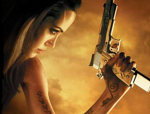 angelina jolie wanted gun. wanted