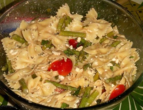 bow tie pasta (farfalle) salad