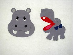 two hippo appliqués