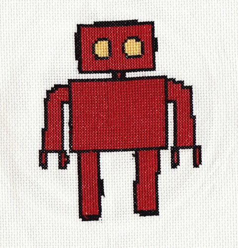robot cross stitch
