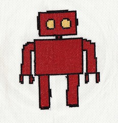 robot crossstitch