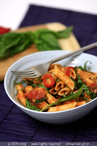 Penne with Vegetable Marinara Sauce 5