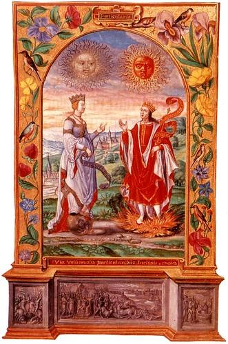 04-Matrimonio Alquimico-Reina luna y Rey sol