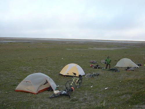 Primer campamento en Deadhorse