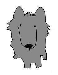 オオカミ犬色つき