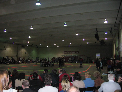 Roller Derby Crowd at the Fairgrounds