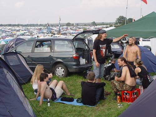 Pie latviešiem F sektorā - Wacken Open Air 2008 - Pirmā diena