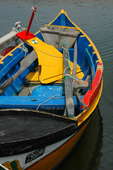 Boat (CGoulao) Tags: blue red color portugal water yellow gua catchycolors boat barco cor sandal ria aveiro remo torreira leme flutuar 2960 abigfave colorphotoaward aplusphoto platinumheartaward