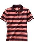 Jersey striped polo - $14.99