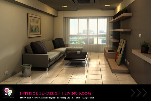 Interior 3D-Design [ Living Room ] View_01