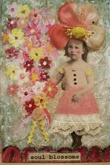 soul blossoms (la tada! vintage boutique) Tags: floral collage vintage mixedmedia blossoms ephemera shabby