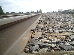 Railroad close up in Dalhart, Texas