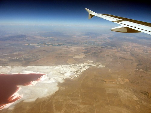 Over the Great Salt Lake