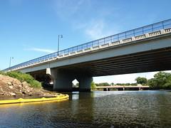BRIDGE K207: U.S. Route 1-9 Bridge over Rahway River, New Jersey (jag9889) Tags: bridge river puente 1 us newjersey google crossing nj bridges 9 ponte route kayaking pont brcke 2008 19 waterway bbk unioncounty rahway njdot rahwayriver edgarroad usroute19 y2008 k207 jag9889 kayakbridgesset