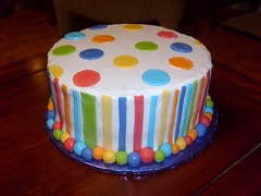 Circles & Stripes Cake