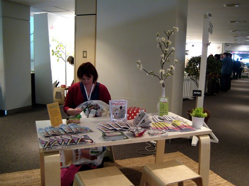 Justine and Mixtape mag at Sydney Stitches and Craft show