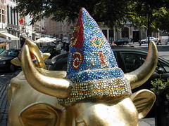 Golden Horns close up (fiona-kelly) Tags: inspiration cow belgium decorative horns assorted bejewelled