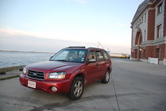 South Boston sightseeing: Isaac wanted to take a picture of the car. Here it is. (Chris Devers) Tags: ocean chris boy sea baby me water car boston daddy ma harbor massachusetts isaac subaru vehicle 2008 bostonma southboston forester southie bostonharbor subaruforester southbostonma cameranikond50 exif:flash=flashdidnotfire exif:focal_length=18mm exif:iso_speed=400 exif:exposure=0006sec1160 exif:aperture=f35 exif:exposure_bias=06ev camera:make=nikoncorporation camera:model=nikond50 meta:exif=1257954743 exif:orientation=horizontalnormal exif:filename=dscjpg meta:exif=1350405486