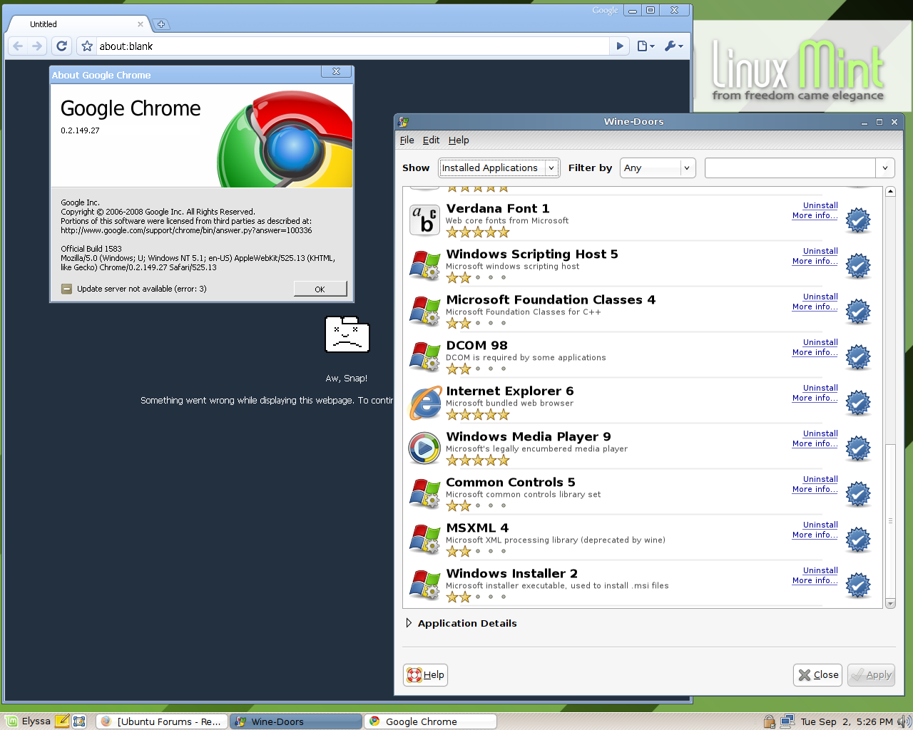 Any Luck Running Google Chrome On Wine Page 4