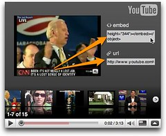 Embedding or linking to an embedded video