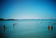 The balmy shores of Lake Balaton (Gribiche) Tags: festival lomo lca hungary 160vc portra lakebalaton balatonsound