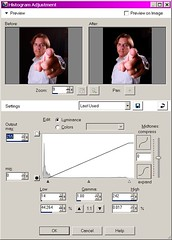 4 Black background histogram adjustment