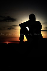 Just Sitting There (geeo123) Tags: old las blue sunset red sky orange sun man black set night dark landscape photography george sitting sam time hey 15 here just where human there land kirky years 2008 effect started bentley bassett dunton lighing mywinners aplusphoto colourartaward geeo123