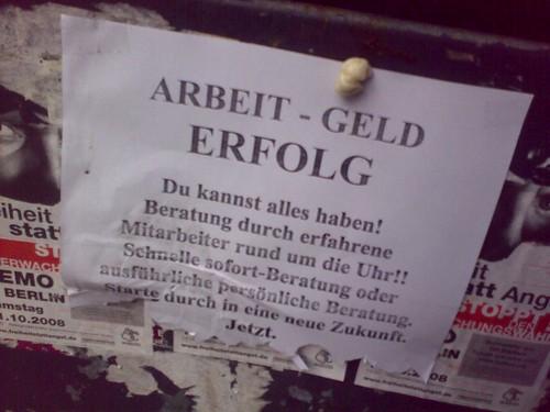 ARBEIT - GELD // ERFOLG