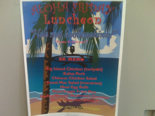 Next Friday is the quarterly lunch!