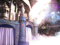 Castle Fireworks (krisjaus) Tags: castle sandiego fireworks iceskating flash disney pyro figureskating sportsarena disneyonice sandiegosportsarena 100yearsofmagic disney100yearsofmagic