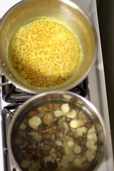Pots of Sunchokes and Toor Dal-2