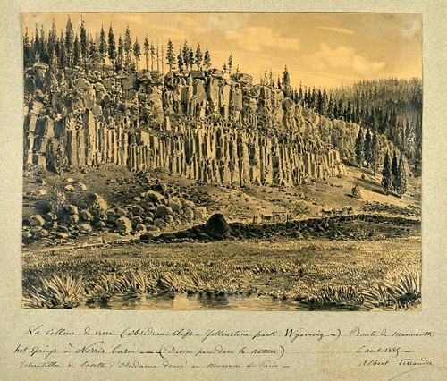 018- La colina de vidrio- Obsidian Cliffs en el parque Yellowstone- Wyoming