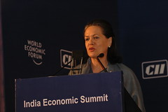 Sonia Gandhi - India Economic Summit 2006