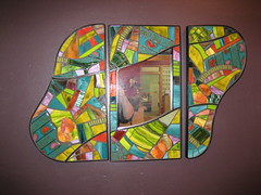 Triptych Mirror (Moe's Ache) Tags: glass animal recycled mosaic whimsical ache moes cappi moesache
