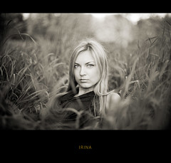 From summer archive (Geshpanets) Tags: bw girl beauty grass sepia 50mm eyes bokeh outdoor 5d 5014 canonef50mmf14usm russiangirl