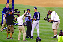2008 MLB Home Run Derby - Reggie Jackson and Derek Jeter (Al_HikesAZ) Tags: nyc newyork game captains major baseball manhattan player professional players 2008 allstar yankeestadium league mlb beisbol reggiejackson ceremonial derekjeter firstpitch homerunderby  majorleaguebaseball alhikesaz nyc2008