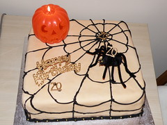Spooky cake (funnyhelen2) Tags: birthday food cake pumpkin spider candle web spooky haloween bloggedhalloween