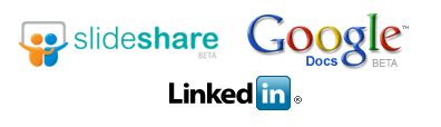 linkedin application with slideshare and google presentation