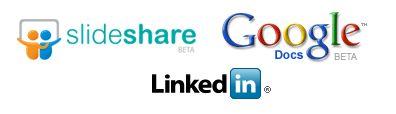 linkedin application with slideshare and google presentation