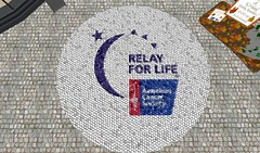 Picture of a mosiac of the American Cancer Society Logo
