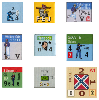 Counters of the Civil War games