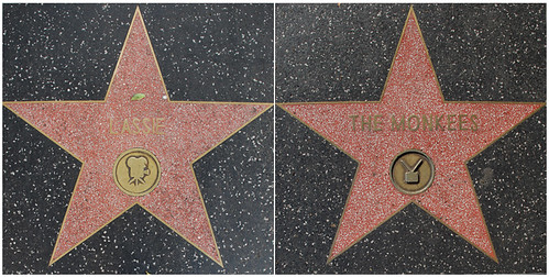 Lassie's and the Monkees' Walk of Fame Stars