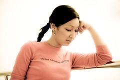 dreaming (AgusValenz) Tags: portrait woman girl office mujer nikon chica retrato coolpix kazakhstan kazakh p80