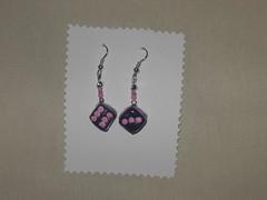 orecchini pendenti dadi rosa (artins) Tags: hand made fimo orecchini