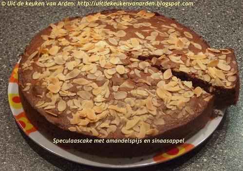 Speculaascake met amandelspijs en sinaasappel