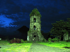 And the Night Beckons (Storm Crypt) Tags: park mountain church volcano nationalpark asia southeastasia philippines belltower tragedy mayon bicol province pilipinas mtmayon stratovolcano daraga albay volcaniceruption philippineislands pacificringoffire ysplix bicolregion luzonisland historicalinstitue philippinenationalpark historyofalbay