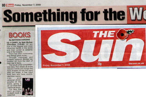 "The Sun: U2-A Diary is ""Essential"""